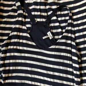 Slendid Navy and White Stripe Maxi Dress Size XS